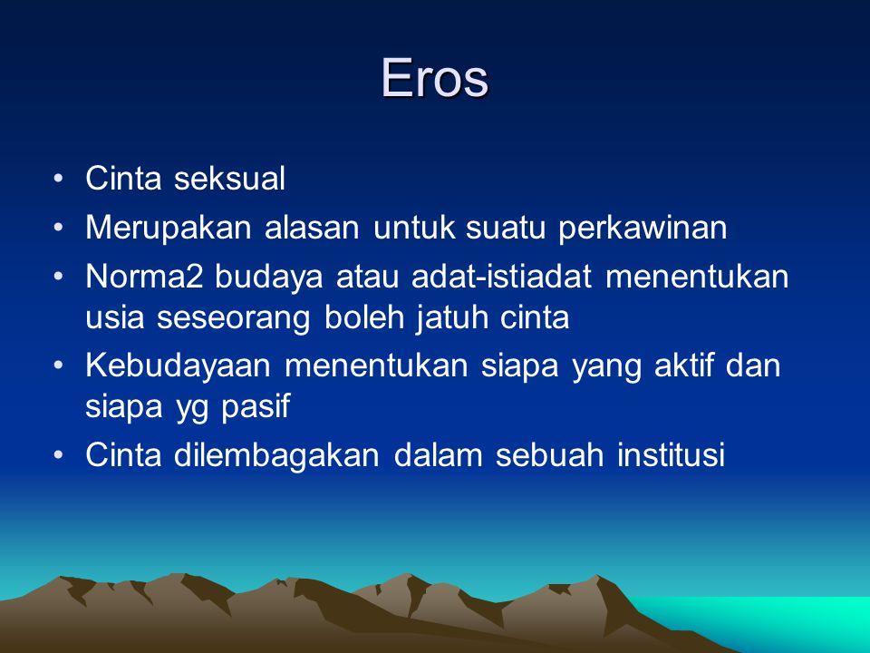 Eros Cinta seksual Merupakan alasan untuk suatu perkawinan