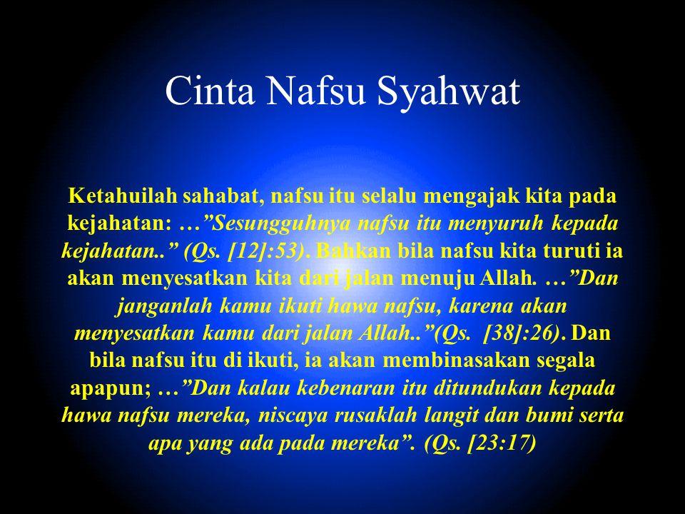 Cinta Nafsu Syahwat