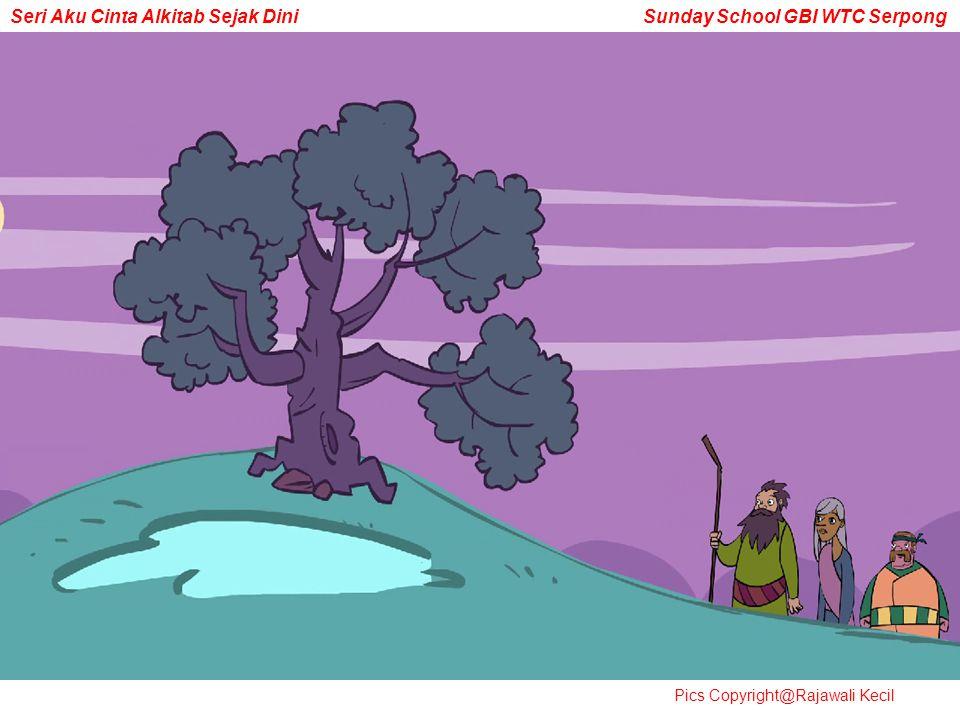 Mereka tiba di More, ada pohon tarbantin tandanya…negeri itu milim orang Kanaan, tapi Tuhan bilang kalau negeri itu akan menjadi milik Abram. Wow…luar biasa ya. Karena Abram taat, Tuhan akan memberikan sebuah negara loh…