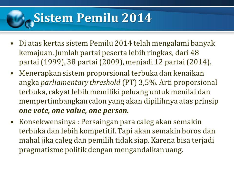 Sistem Pemilu 2014