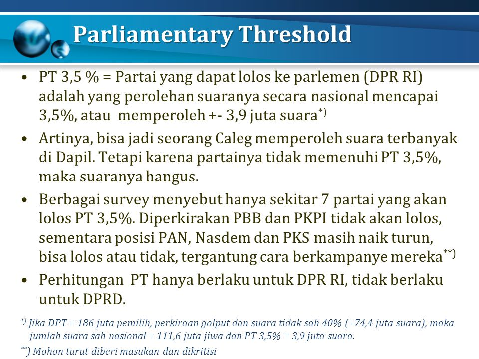 Parliamentary Threshold
