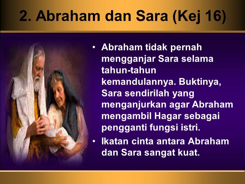 2. Abraham dan Sara (Kej 16)