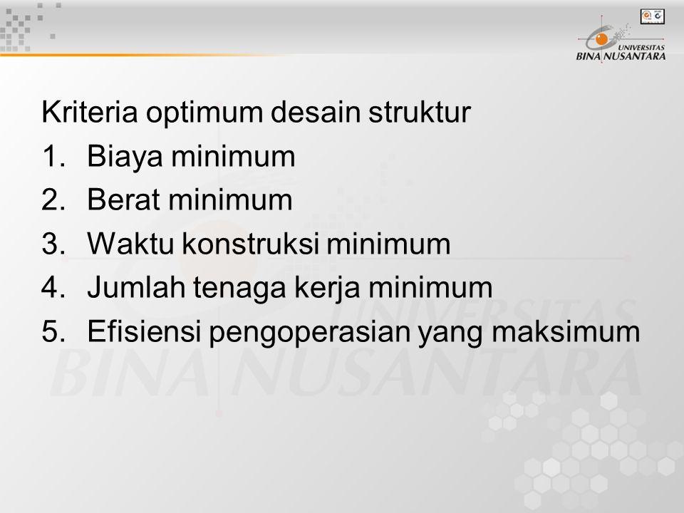 Kriteria optimum desain struktur