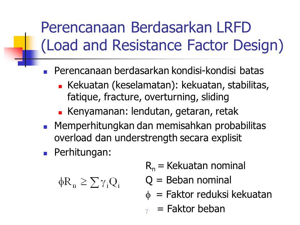 Perencanaan Berdasarkan LRFD (Load and Resistance Factor Design)