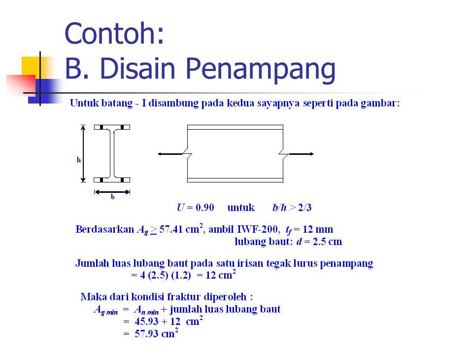 Contoh: B. Disain Penampang