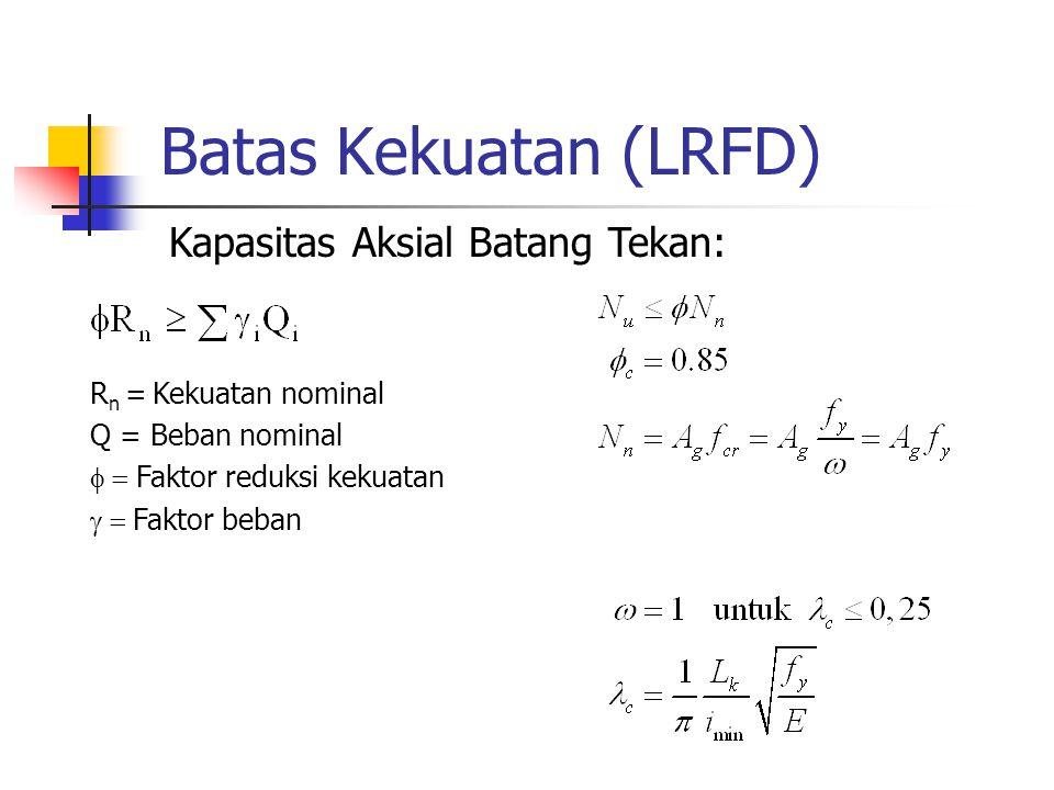 Batas Kekuatan (LRFD) Kapasitas Aksial Batang Tekan: