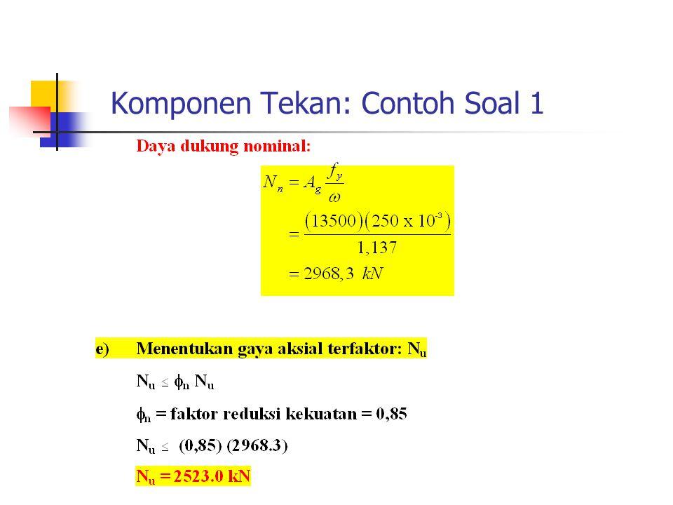 Komponen Tekan: Contoh Soal 1