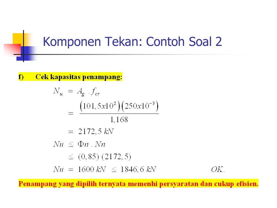 Komponen Tekan: Contoh Soal 2