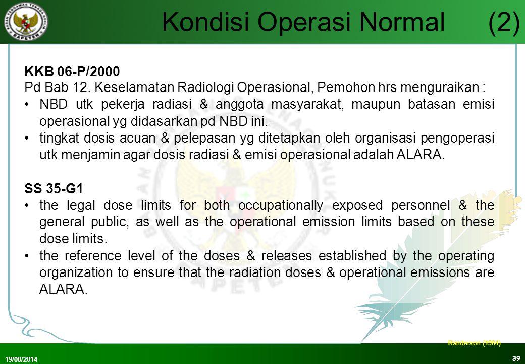 Kondisi Operasi Normal (2)