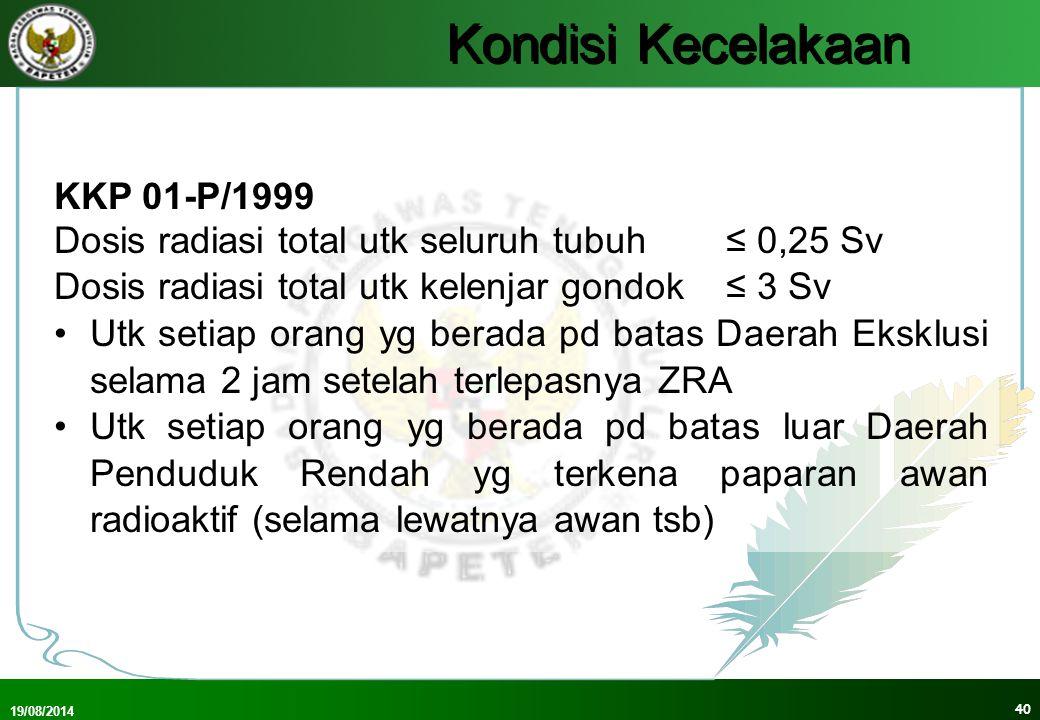Kondisi Kecelakaan KKP 01-P/1999