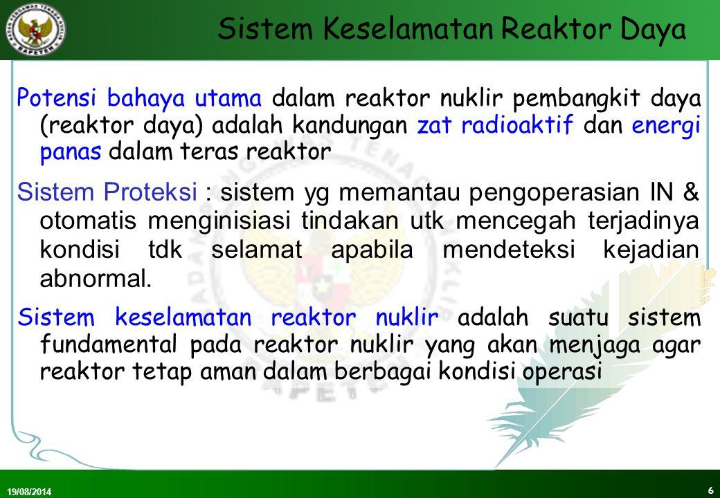 Sistem Keselamatan Reaktor Daya
