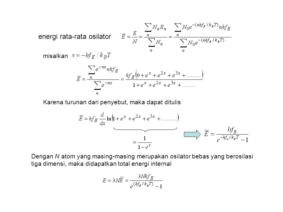 energi rata-rata osilator