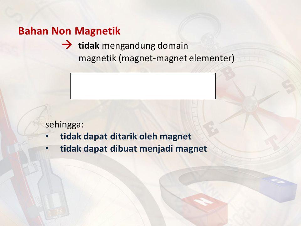  tidak mengandung domain magnetik (magnet-magnet elementer)