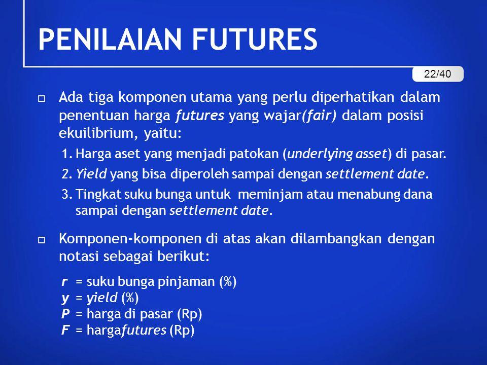 PENILAIAN FUTURES 22/40.