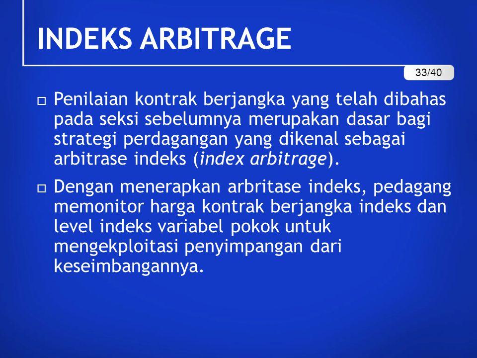 INDEKS ARBITRAGE 33/40.