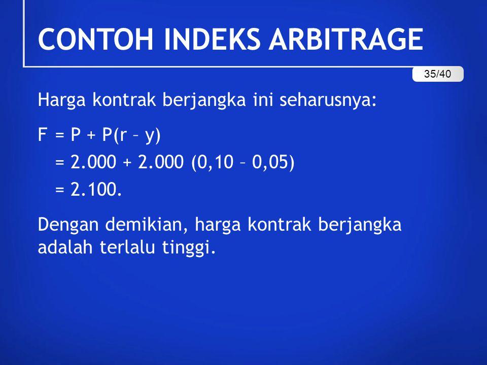 Contoh Indeks Arbitrage