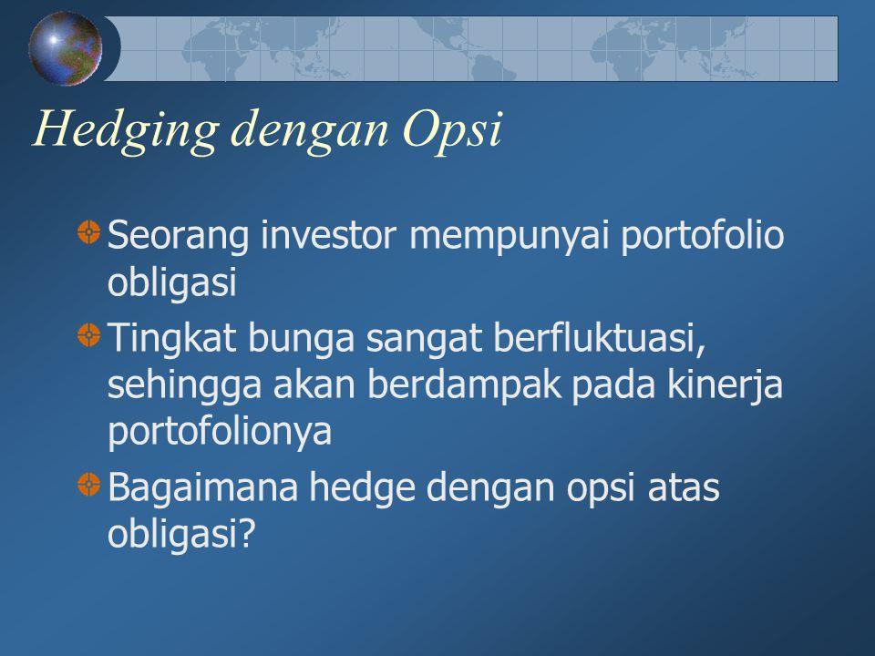 Hedging dengan Opsi Seorang investor mempunyai portofolio obligasi