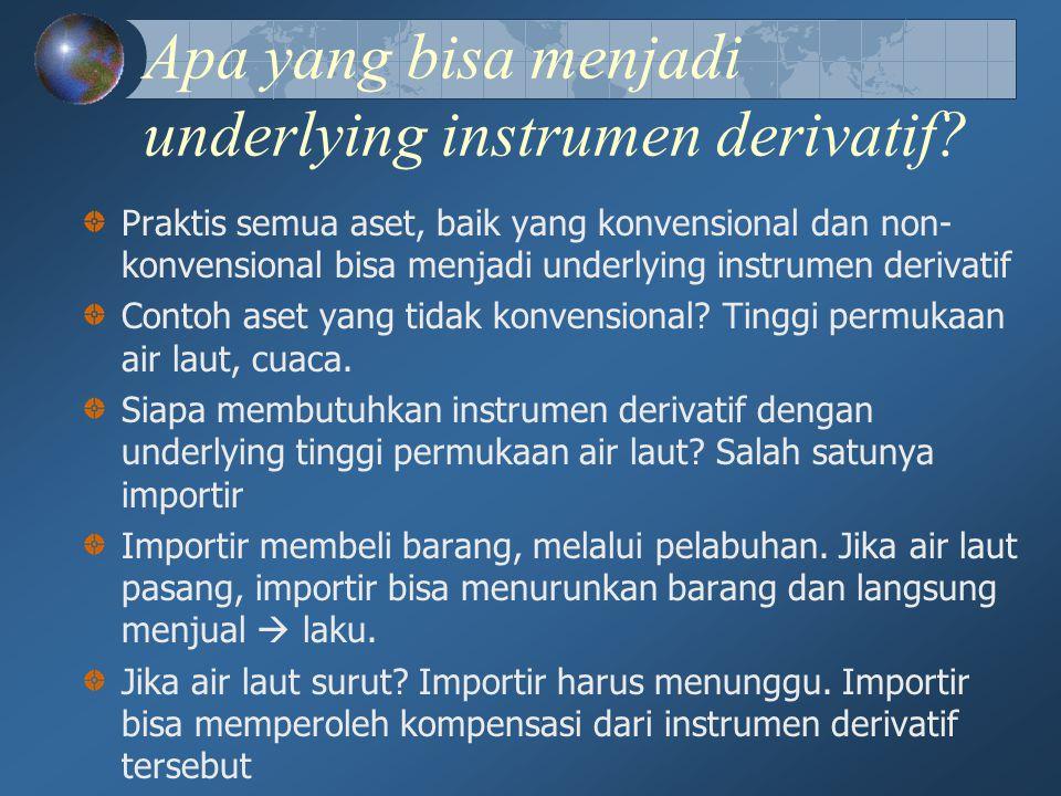 Apa yang bisa menjadi underlying instrumen derivatif