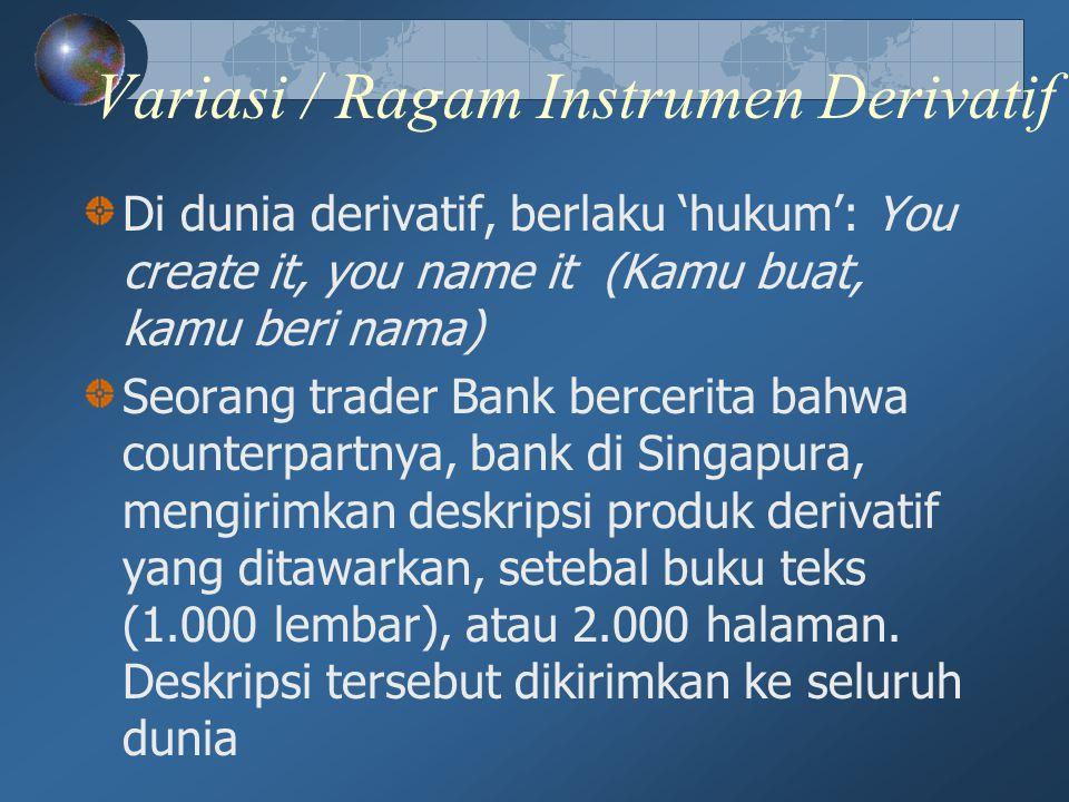Variasi / Ragam Instrumen Derivatif