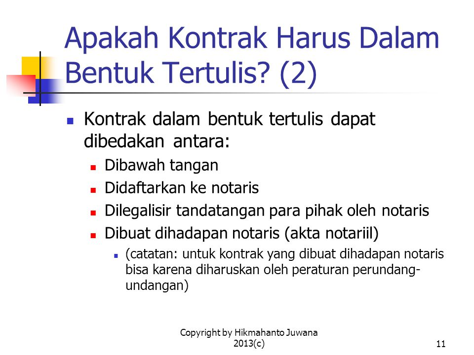 Apakah Kontrak Harus Dalam Bentuk Tertulis (2)