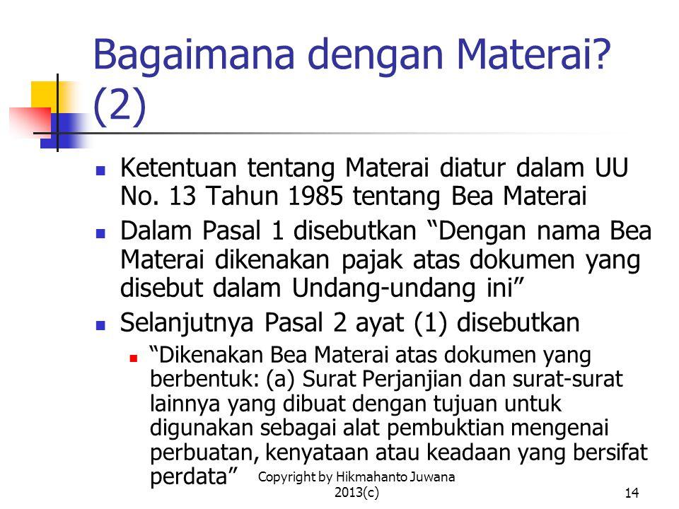 Bagaimana dengan Materai (2)