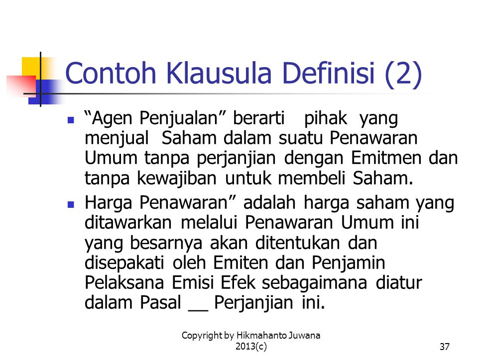 Contoh Klausula Definisi (2)
