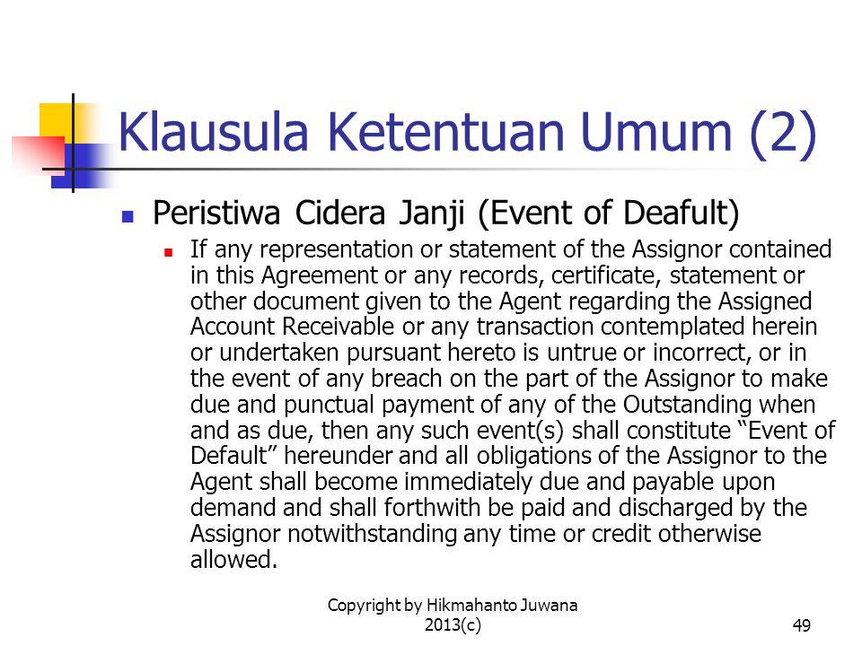 Klausula Ketentuan Umum (2)
