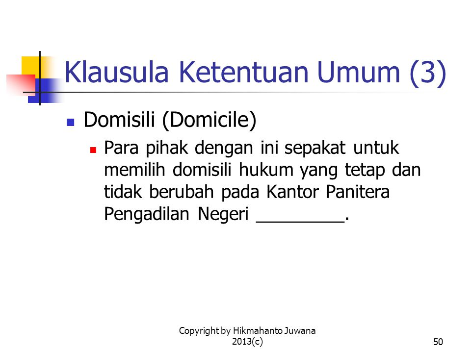 Klausula Ketentuan Umum (3)