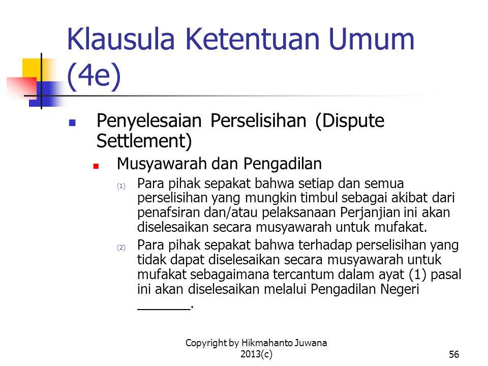 Klausula Ketentuan Umum (4e)