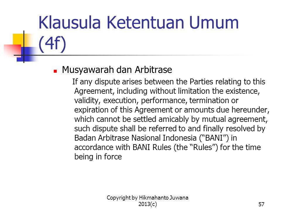 Klausula Ketentuan Umum (4f)