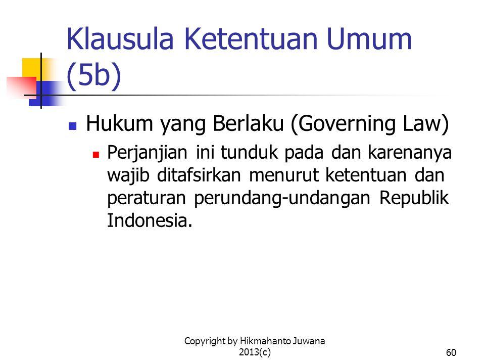 Klausula Ketentuan Umum (5b)