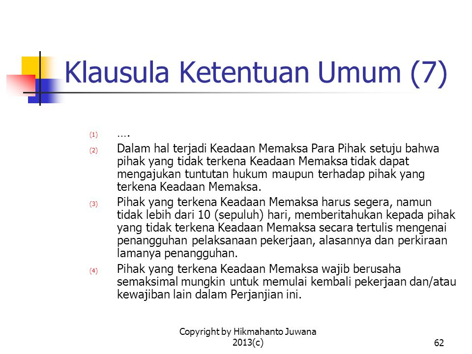 Klausula Ketentuan Umum (7)