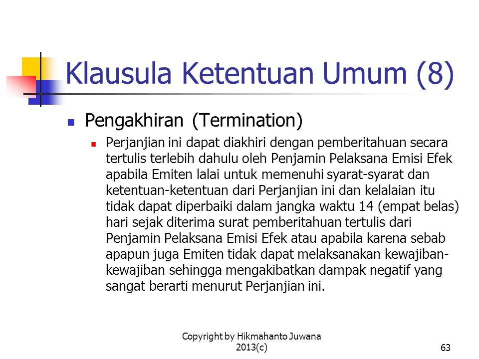 Klausula Ketentuan Umum (8)