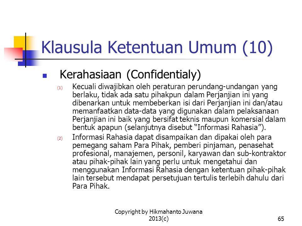 Klausula Ketentuan Umum (10)