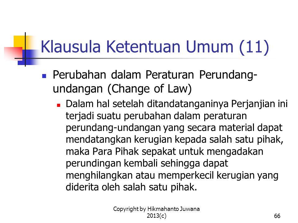 Klausula Ketentuan Umum (11)