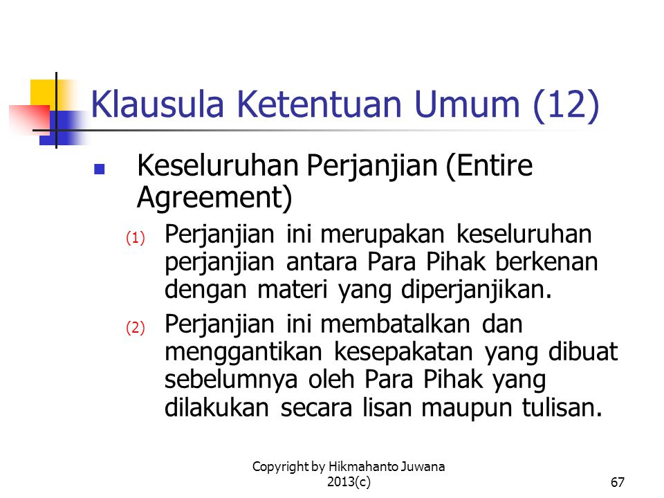 Klausula Ketentuan Umum (12)