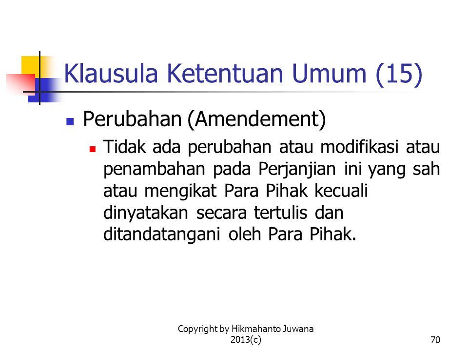 Klausula Ketentuan Umum (15)