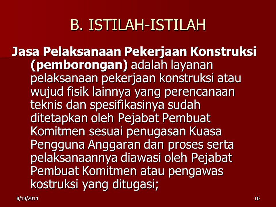 B. ISTILAH-ISTILAH