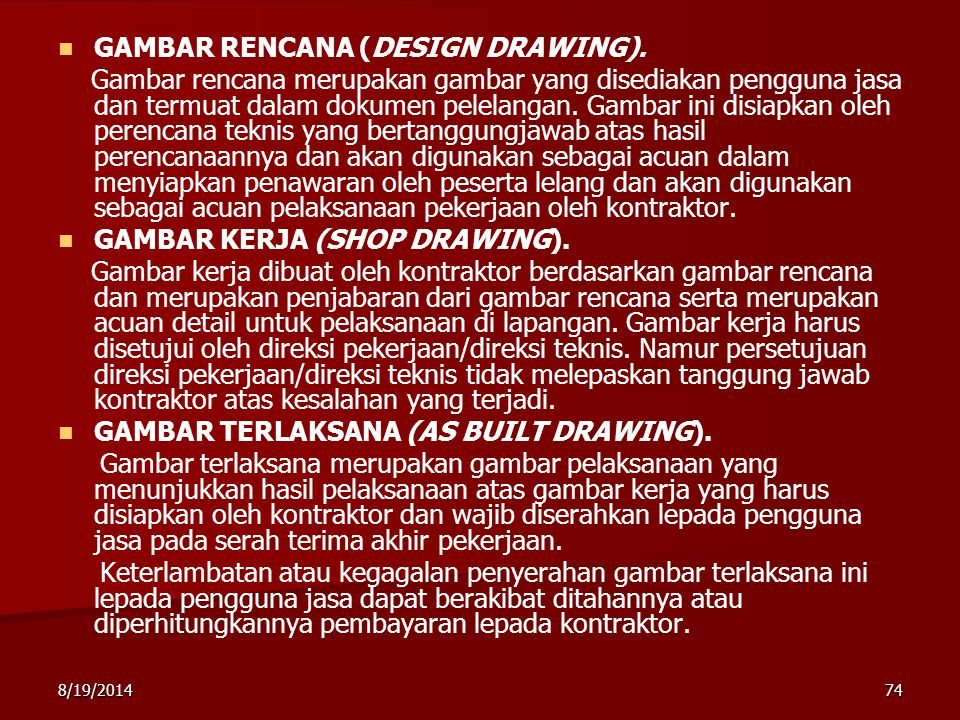 GAMBAR RENCANA (DESIGN DRAWING).