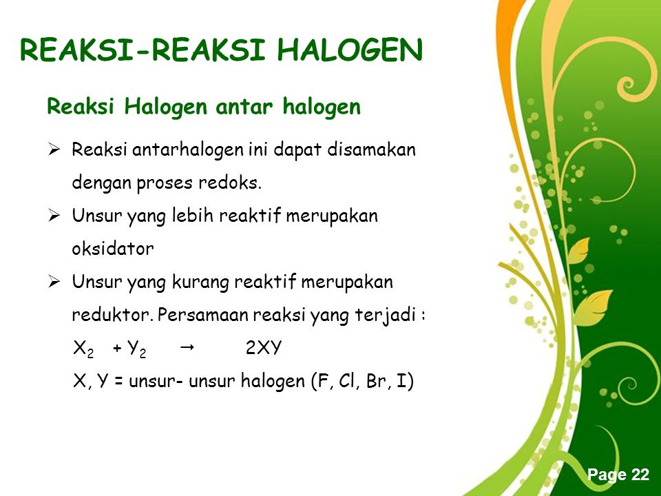 REAKSI-REAKSI HALOGEN