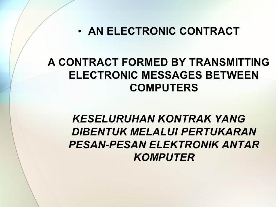 AN ELECTRONIC CONTRACT