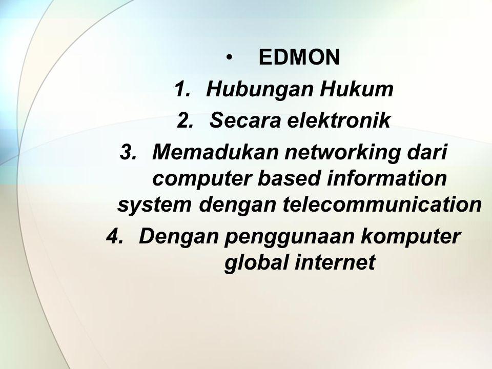 Dengan penggunaan komputer global internet