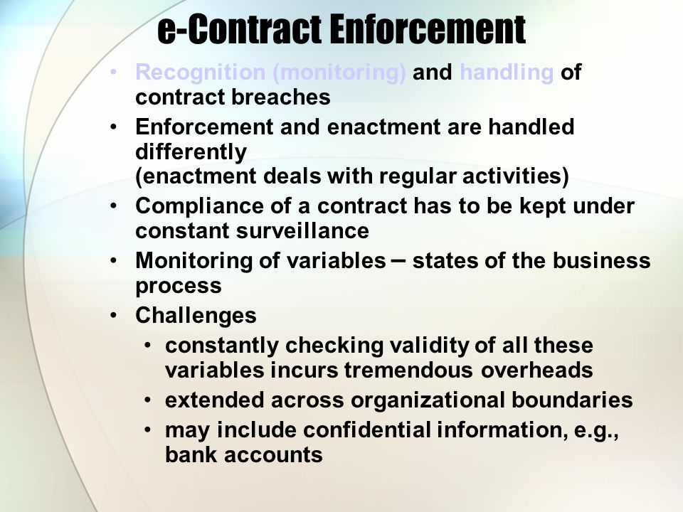 e-Contract Enforcement