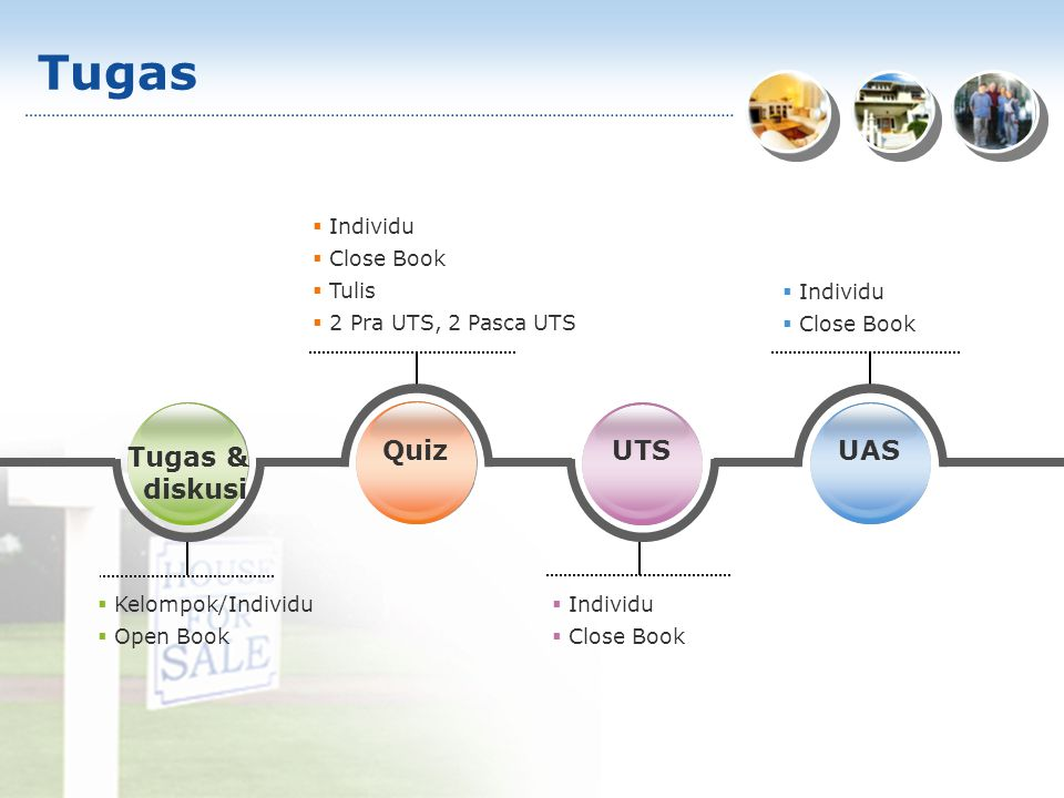 Tugas Tugas & diskusi Quiz UTS UAS Individu Close Book Tulis