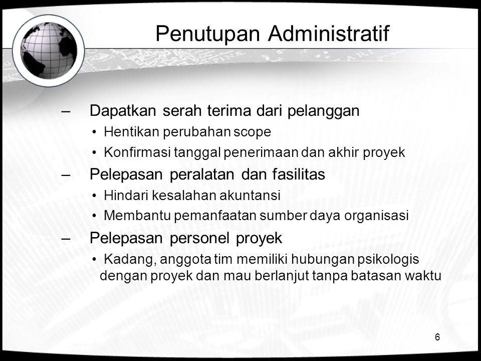 Penutupan Administratif