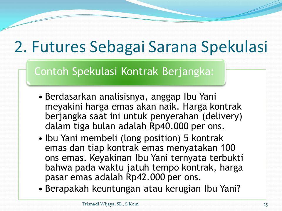 2. Futures Sebagai Sarana Spekulasi