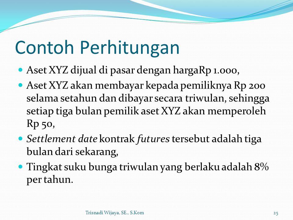 Contoh Perhitungan Aset XYZ dijual di pasar dengan hargaRp 1.000,
