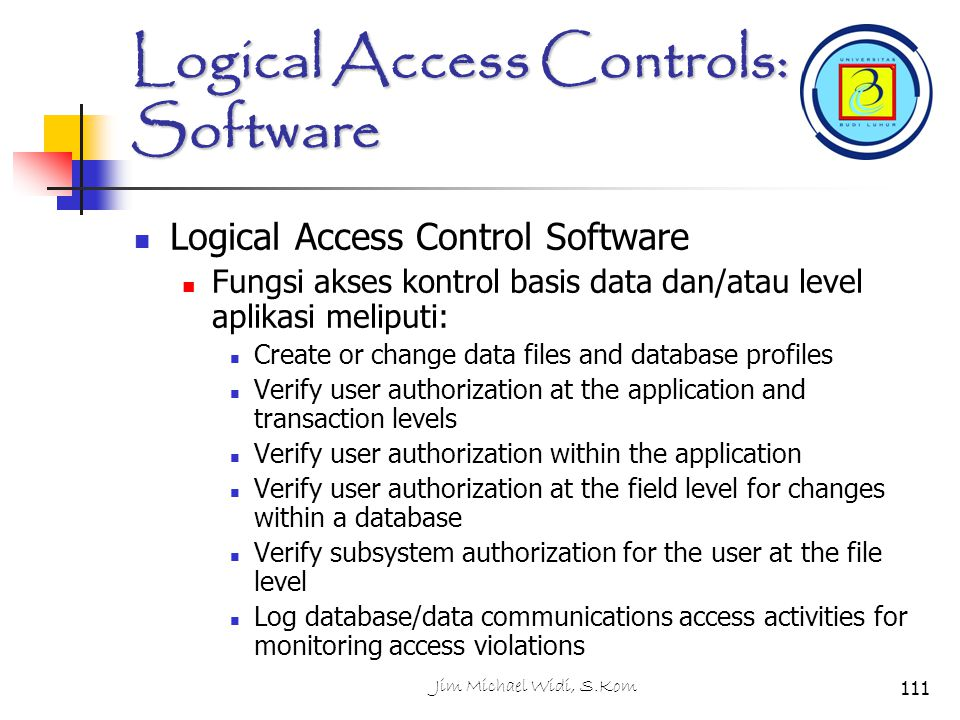 Logical Access Controls: Software