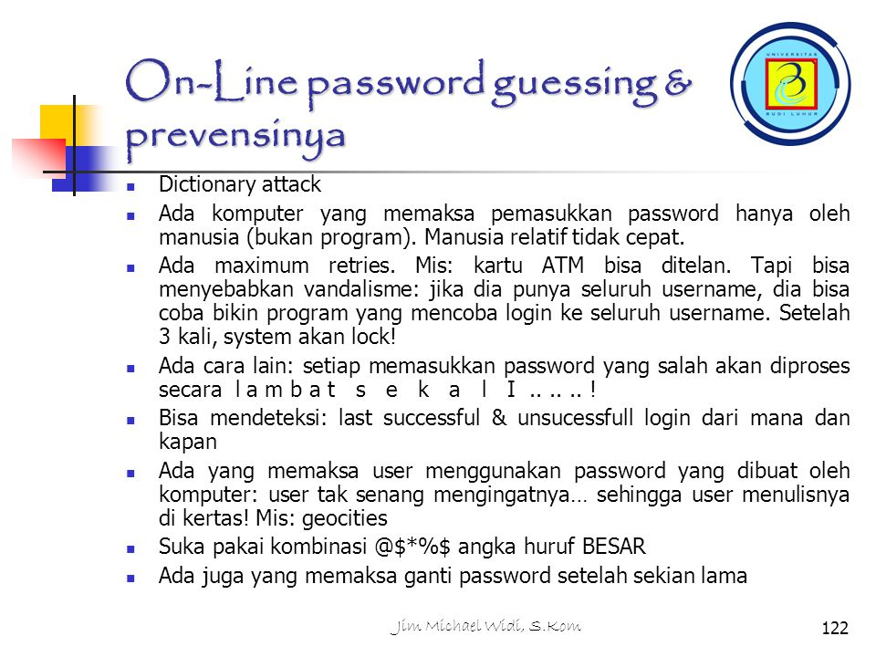 On-Line password guessing & prevensinya