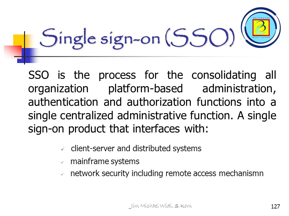 Single sign-on (SSO)